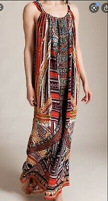 AU199 • Buy Camilla Dancing Dao Silk Drawstring Maxi Dress Boho Swarovski Crystal One Size