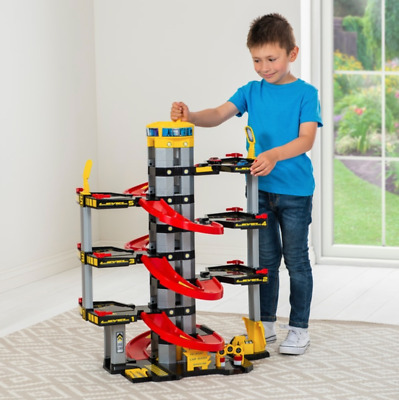 Kids Large Toy Car 7 Storey Parking Garage W/ Elevator Children Fun Playset New • 54.10£