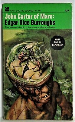$8.99 • Buy John Carter Of Mars - Edgar Rice Burroughs - British Four Square Edition