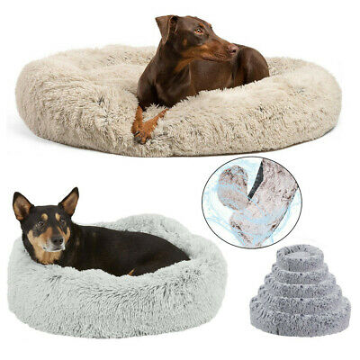 AU51.96 • Buy 20-46  Waterproof Soft Donut Pet Cat Dog Bed Anti-Anxiety Sleeping Calming Beds