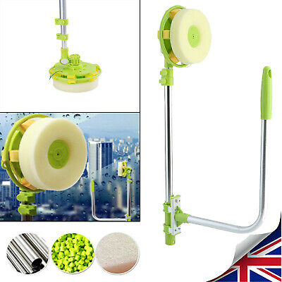 Telescopic High Rise Window Cleaner Glass Dust Cleaning Brush Squeegee U-type • 19.99£
