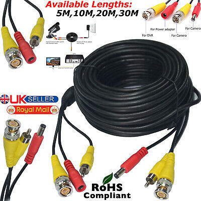 CCTV Camera Cable Video Phono Mic Power Cable Data BNC Power Extension Cable Lot • 1.49£