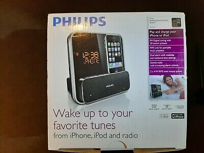 Philips Iphone/ipod Dock Alarm Radio Black _Used, Original Packaging • 8.65£