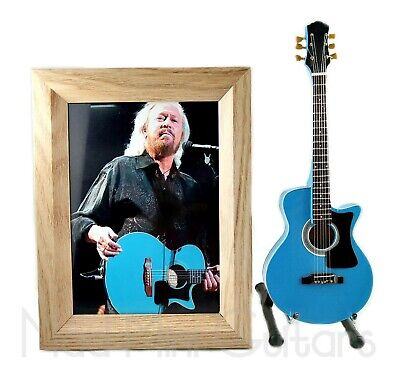 $ CDN38.19 • Buy Miniature Guitar BARRY GIBB With Stand + Photo + Frame 5X7 BEE GEES