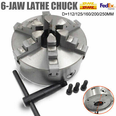 AU219.82 • Buy 6-jaw Lathe Chuck Self-Centering 100/125/160/200mm CNC Drilling Metal Lathe