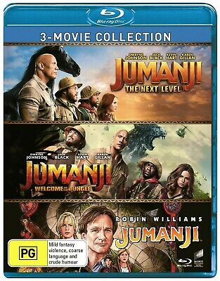 AU24.88 • Buy Jumanji 3 Movie Collection (Blu-ray) Region B ***BRAND NEW & SEALED***