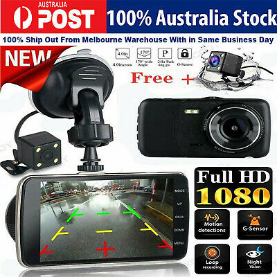 AU64.45 • Buy HD 1080P Car Dash Camera Recorder LCD Dual Lens DVR Front And Rear Reverse Cam