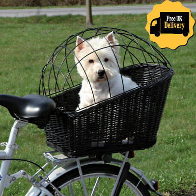 Rear Mounted Bicycle Rack Travel Cycling Basket Dog Cat Bike Carrier Wicker NEW! • 44.99£