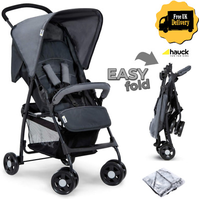 Hauck Foldable Lightweight Baby Kids Pushchair Pram Buggy Stroller + Raincover • 63.99£