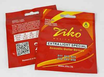 $ CDN3.76 • Buy 1 X Ziko Acoustic Guitar Strings 2 X Gauges Available. Copper Plated UK Shipping