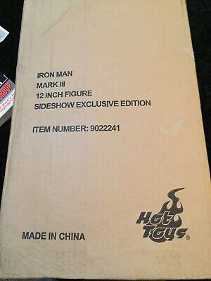 AU50 • Buy HOT TOYS IRON MAN Mark III EXCLUSIVE EDITION 1/6 DIECAST Scale EMPTY ART BOX