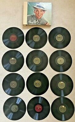 $24.99 • Buy Lot Of 12 Bing Crosby Decca Records 10  78RPM W/ 12 Sleeve Album Book TESTED