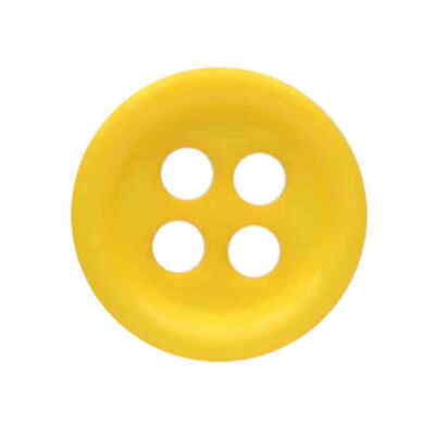 $2.97 • Buy YELLOW 4 HOLE BUTTONS 10mm