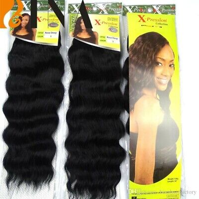 Xpression Hair Extensions Synthetic Weave, Style: ROSE DEEP - Colour #1 • 7.25£