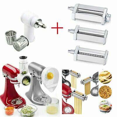 £25.28 • Buy Pasta Roller Cutter + Slicer Shredder Attachment For KitchenAid Stand Mixers