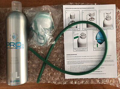 35 Litres Of Oxygen In A Can - Mask Included - Oxygen Pro 2 - Simply Breathe Ltd • 45£