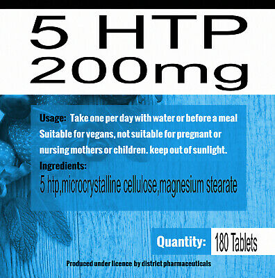 AU27.28 • Buy 5htp - Strongest Pharma Grade 5-htp -180 Tablets X 200mg Natural Serotonin Boost