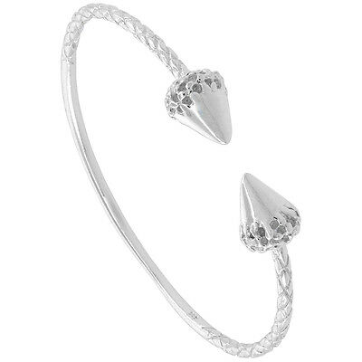 7  Sterling Silver West Indies Spotted Cone Shell Bangle Bracelet • 35.43£