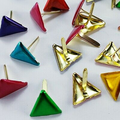 $1.75 • Buy 24 Metallic Triangle Brads 6 Colors Scrapbooking Crafts Paper Art Handmade Cards