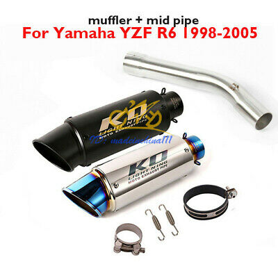 $98.55 • Buy Motorcycle Exhaust Connect Pipe Tip Muffler Escape For Yamaha YZF R6 1998-2005