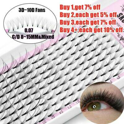 AU4.98 • Buy SKONHED 16 Rows 3D~10D Russian Premade Volume Fans Eyelashes Extension Mink Lash
