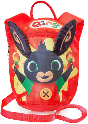 Bing Kids Reins Backpack | Bing Bunny Toddler Red Backpack For Boys, Girls | Bac • 19.43£