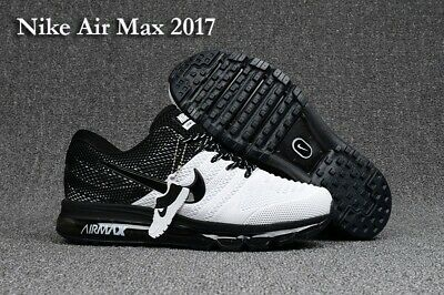 $139.66 • Buy Nike Air Max 2017 Running Shoes Black Anthracite White 849559-001 Men's NEW