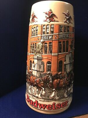 $ CDN32.65 • Buy 1980s Budweiser Clydesdales Beer Stein St Louis Brew House Historical Landmark