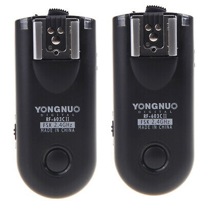 Yongnuo RF-603C II Wireless Remote Flash Trigger C3 For Canon 5D 1D 50D SLR G7I4 • 29.62£