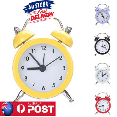 AU10.43 • Buy Retro Classic Double Bell Mechanical Keywound Alarm Clock For Home Office AU