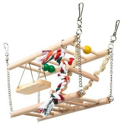 Trixie Hanging Suspension Bridge Cage Ladder Rope Toy For Hamster, Mouse, Gerbil • 14.99£