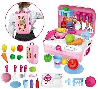 £9.95 • Buy Childrens Kids Kitchen Cooking Role Play Pretend Toy Cooker Game Set With Sound