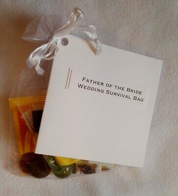 Father Of The Bride/Groom Survival Bag Kit Present Gift Wedding Favour Keepsake • 2.99£