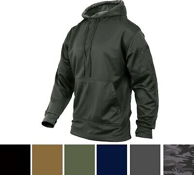 $37.99 • Buy Mens Solid Concealed Carry Hoodie Pass Through Kangaroo Pocket CCW