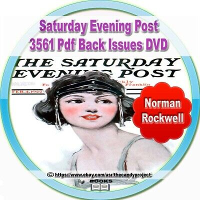 $ CDN11.46 • Buy 3561 PDF Saturday Evening Post Back Issues Norman Rockwell Great Fiction 3 DVDs