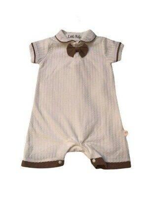 £13.99 • Buy Baby Boy Spanish Style Bow Tie Romper 0-3, 3-6, 6-9, 9-12, 12-18Months