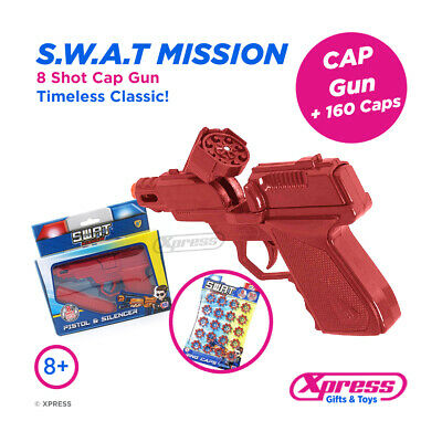 Swat Mission 8 Shot Cap Gun Ring Caps Pistol Toy Kids Child Outdoor Revolver  • 9.95£
