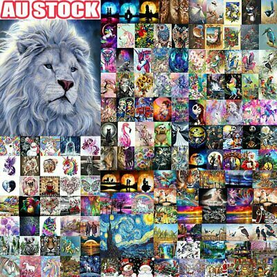 AU11.81 • Buy 5D DIY Diamond Painting Drill Embroidery Kits Art Cross Stitch Decors Gifts AU#