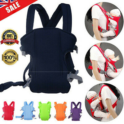 Adjustable Infant Baby Carrier Wrap Sling Hip Seat Newborn Backpack Breathable • 8.78£