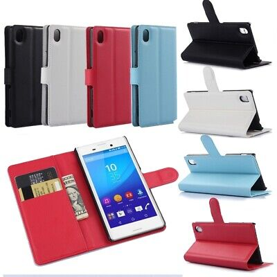 AU6.93 • Buy 1x Leather Wallet Book Flip Case Pouch For Sony XPeria Experia Mobile Phone QEY