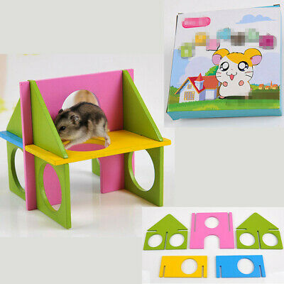 £4.89 • Buy Hamster Toys Wooden Playground Playhouse Cage Exercise Toy Gym Pet Mouse Rat