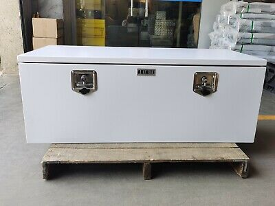 AU319 • Buy White Steel Toolbox 1200MM With Steel Tray Heavy Duty Tool Box Ute Toolbox
