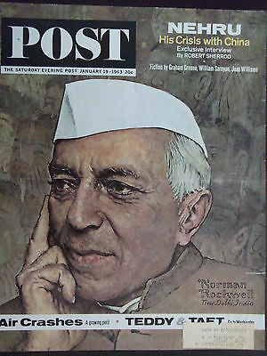 $ CDN19.08 • Buy 1963 Saturday Evening Post NEHRU Norman Rockwell Cover Only