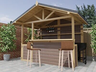 Outdoor Garden Bar / Barbeque Build Plans Do It Yourself Cocktail Gin Bar BBQ • 5.99£