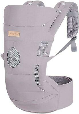 Tiancaiyiding - Grey Baby Carrier, Adjustable Hip Seat/Hood, Infant, Toddler • 20£