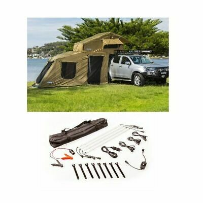 AU1167 • Buy Kings Roof Top Tent + 6-man Annex + 4 Bar Camp Light Kit
