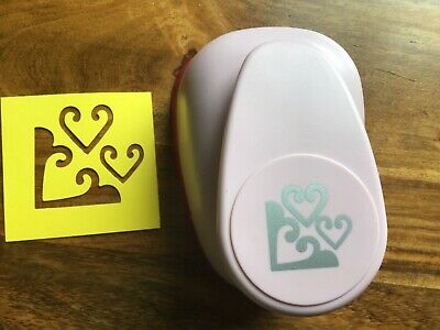 Used Once WOODWARE 3 Hearts Decorative HTF LARGE XL Card Craft PUNCH Rare • 8.99£