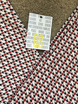 $19.99 • Buy Lularoe LEGGINGS Black, Red, White Plaid Houndstooth Tall And Curvy OS NWT NEW