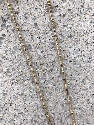 Real Gold Plated Stainless Steel Fine Ball Station Chain Necklace • 6.50£