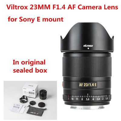 AU390.16 • Buy Viltrox 23mm F1.4 Auto Focus APS-C Prime Lens For Sony E-Mount A6400 A6300 NEX-7